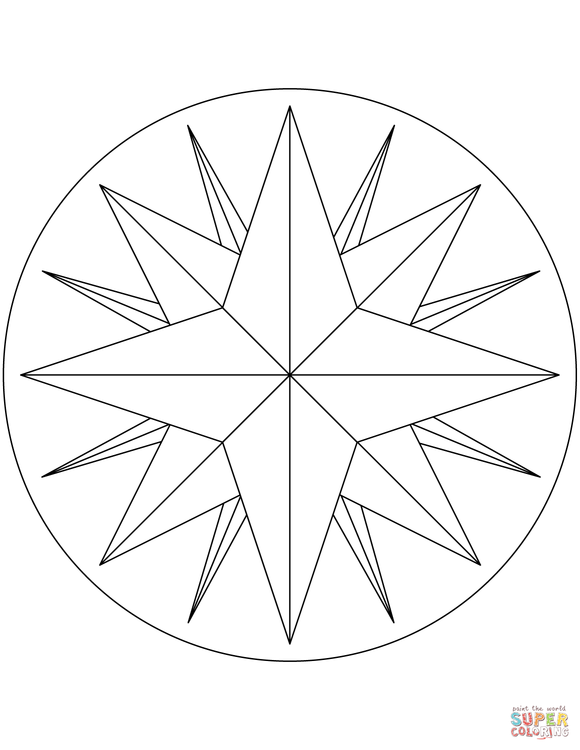 Compass Line Drawing At Getdrawings