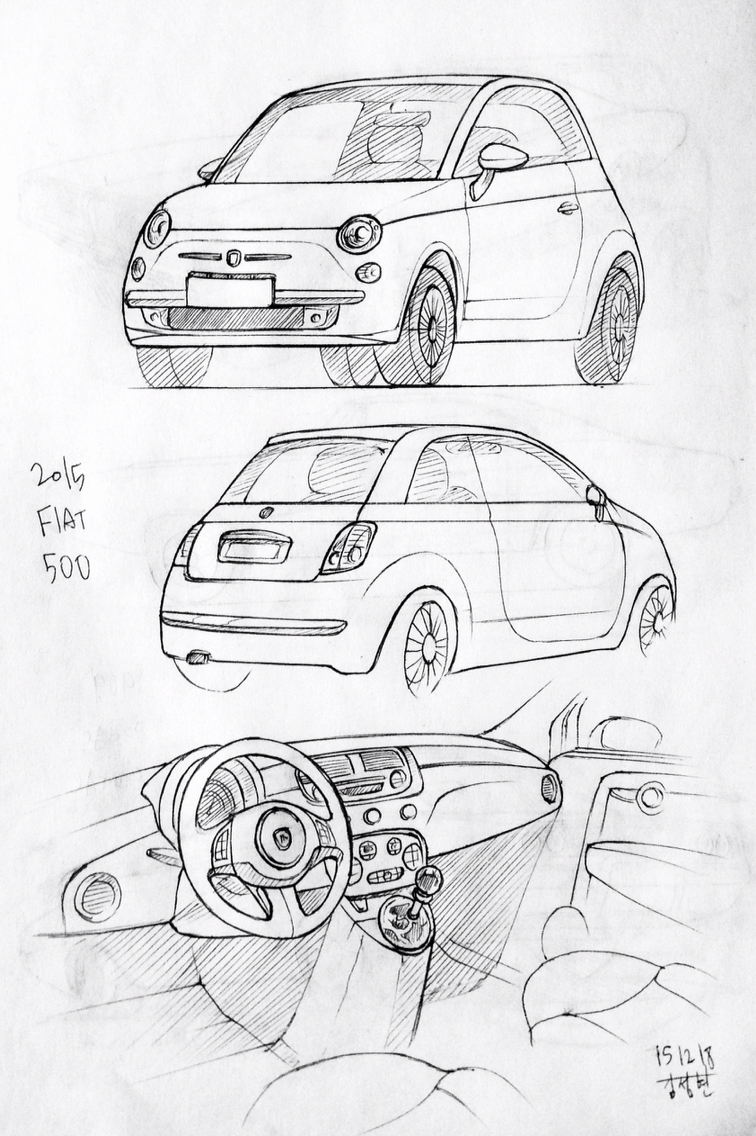756x1136 car drawing 151218 2015 fiat 500 prisma on paper kim j h daily