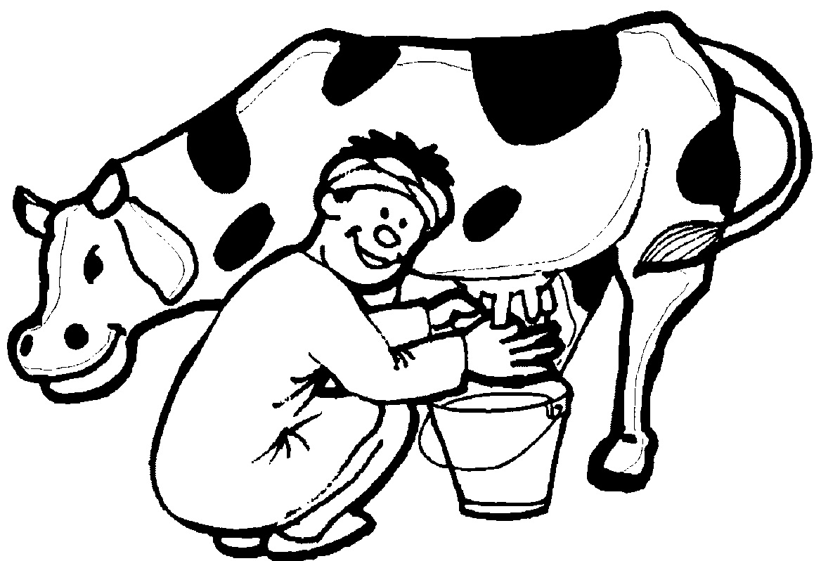 Cow Drawing Outline At Getdrawings