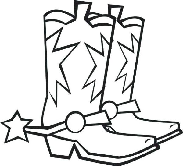 cowboy boots coloring pages # 38