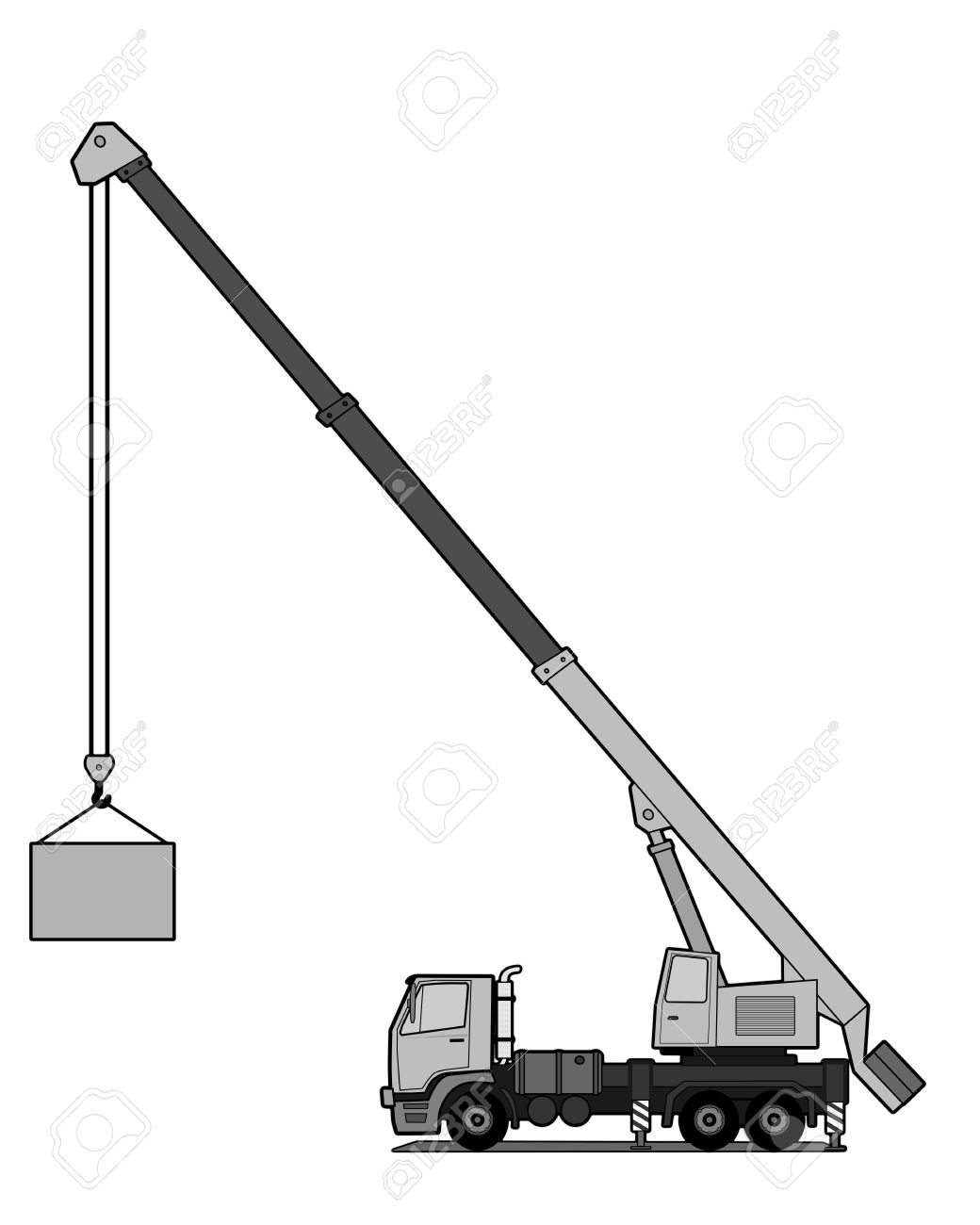 Crane Truck Drawing At Getdrawings