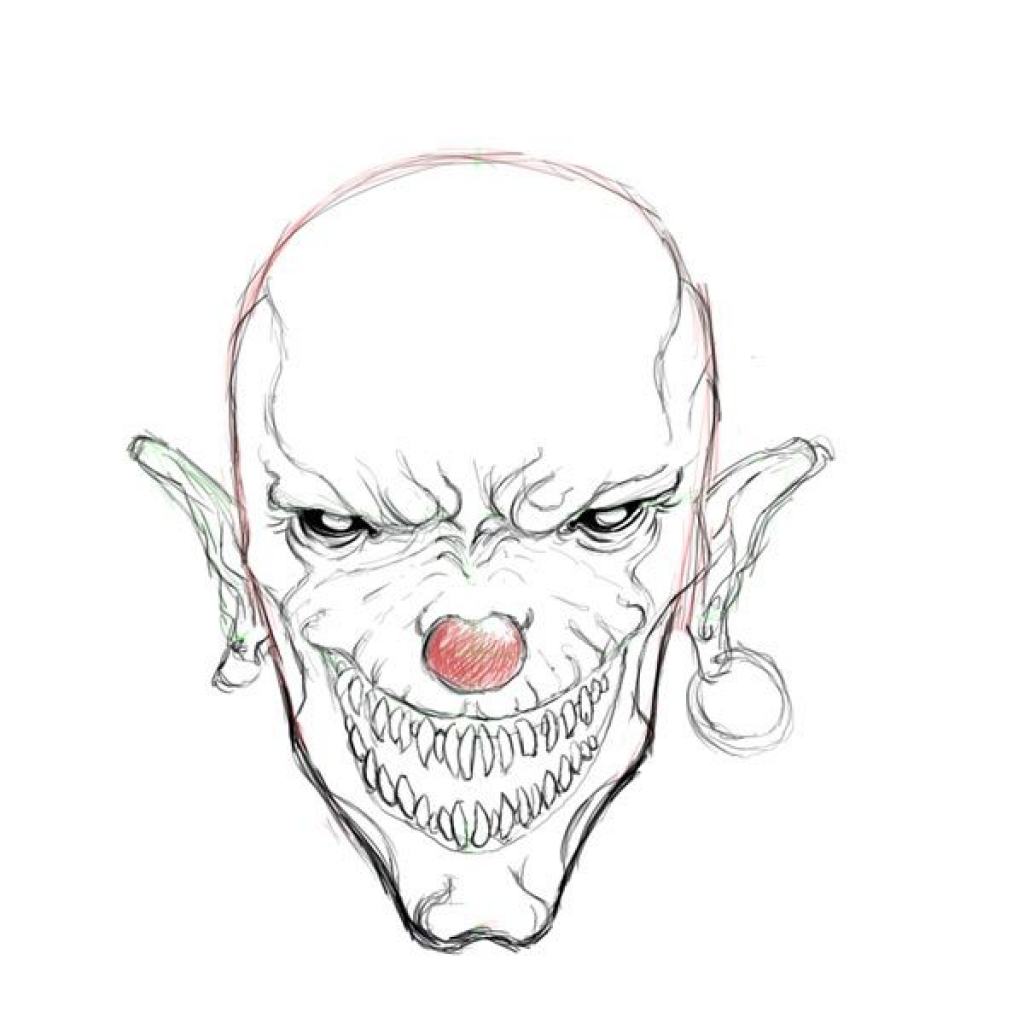 Creepy Clowns Drawing At Getdrawings