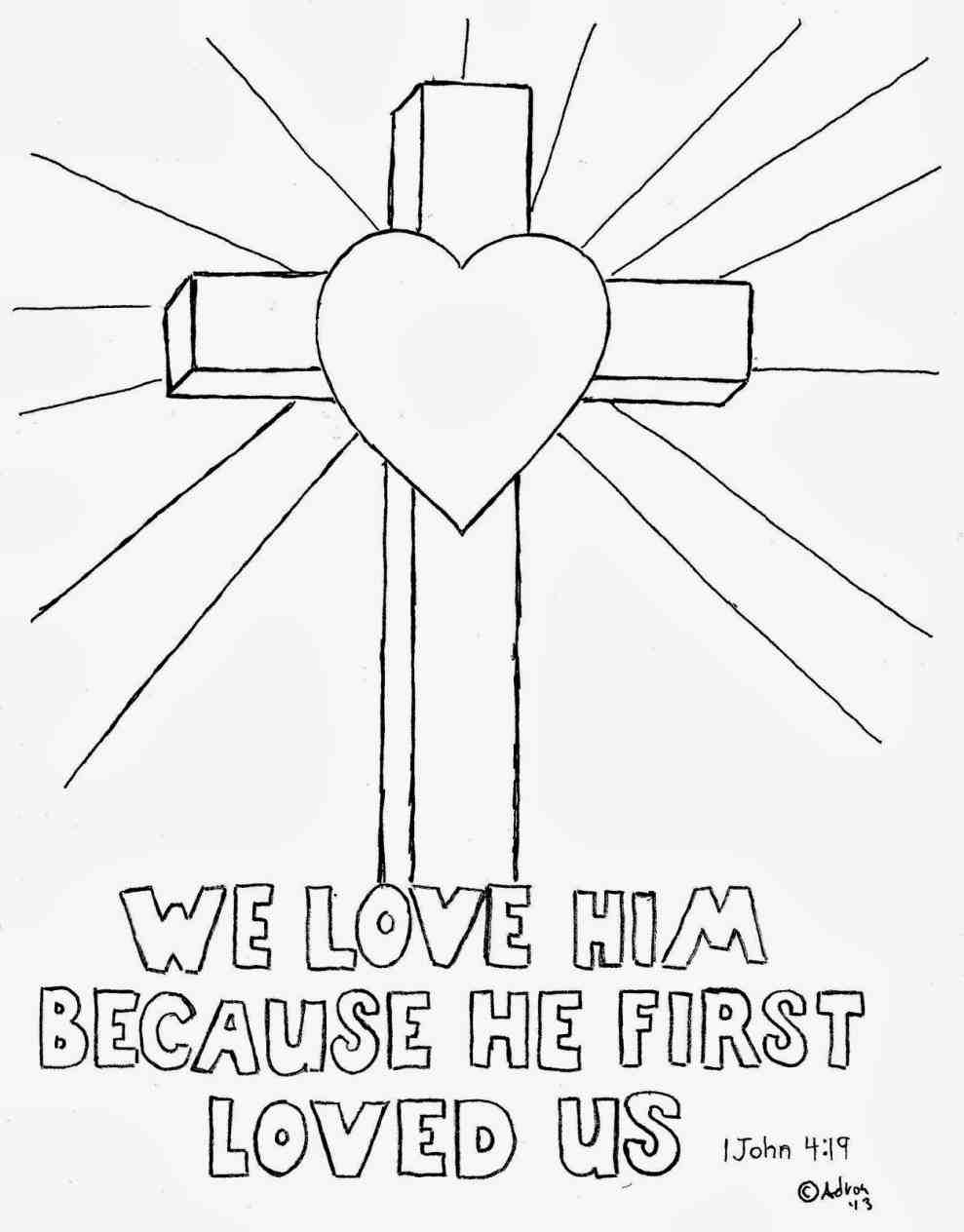 Jesus Carrying Cross Easy Drawing