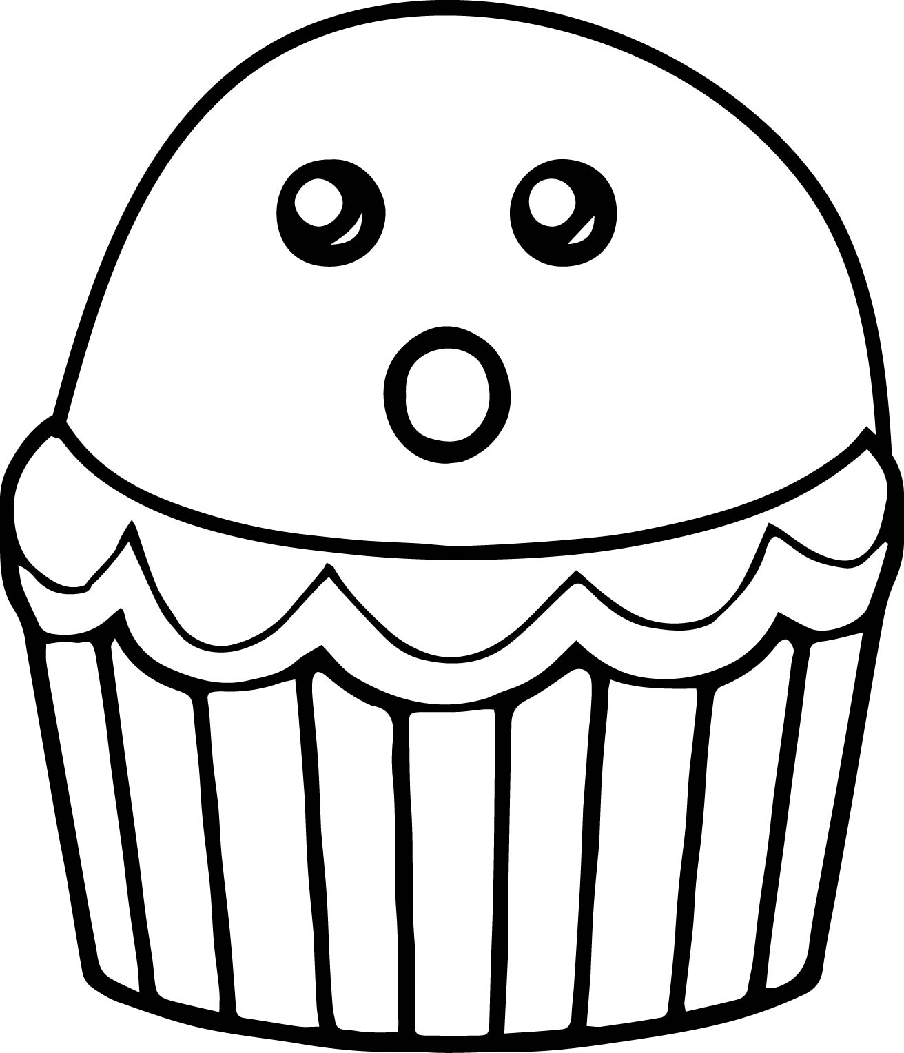Cupcake Cartoon Drawing At Getdrawings
