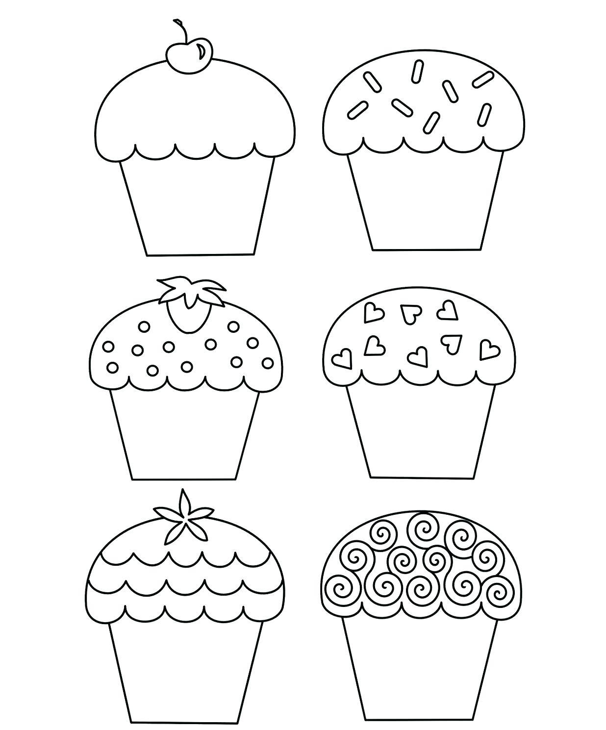 Cupcake Drawing Template At Getdrawings