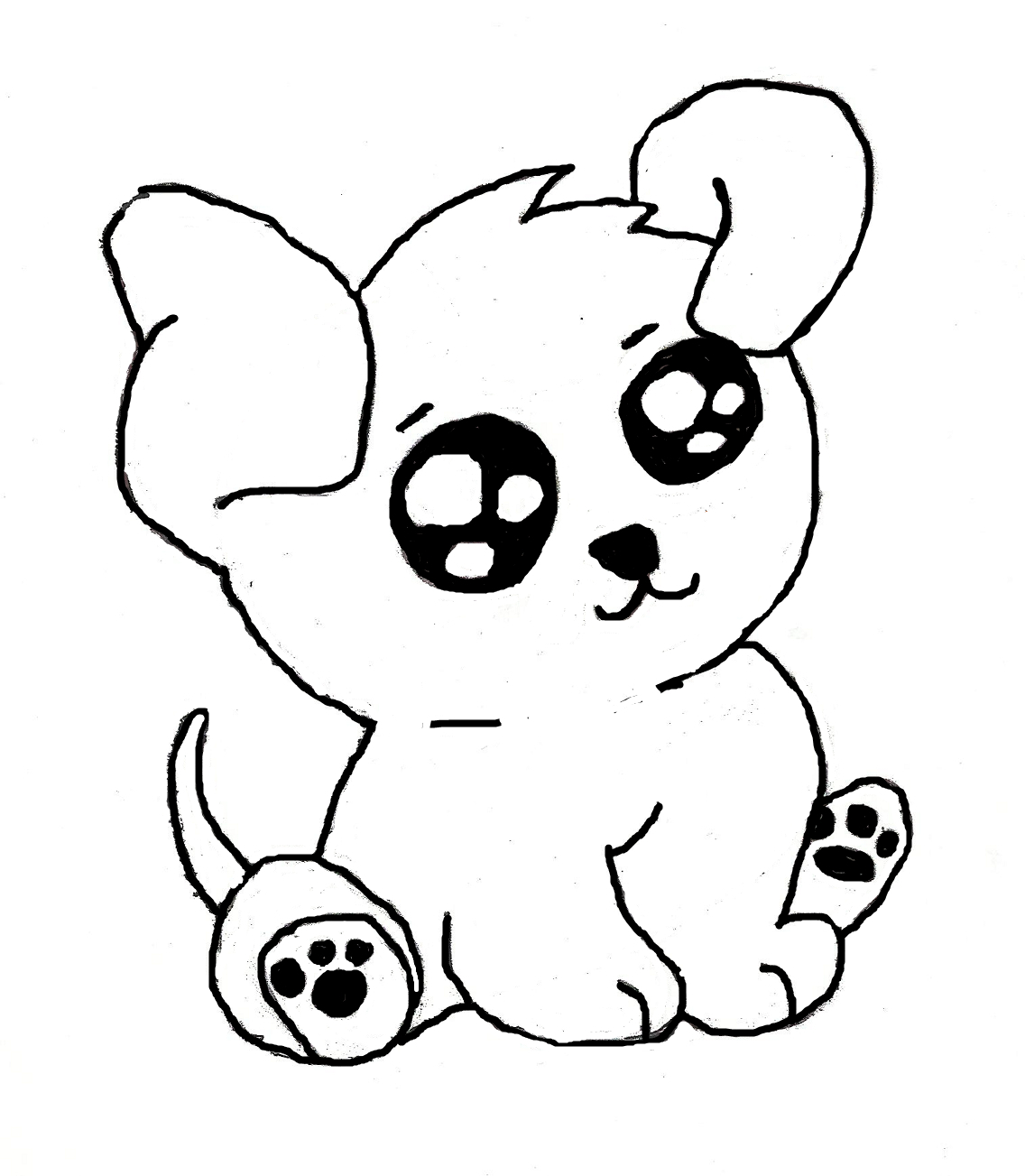 Cute Dog Cartoon Drawing At Getdrawings