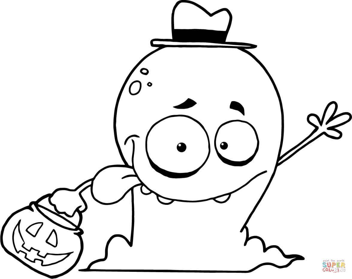 Cute Ghost Drawing At Getdrawings