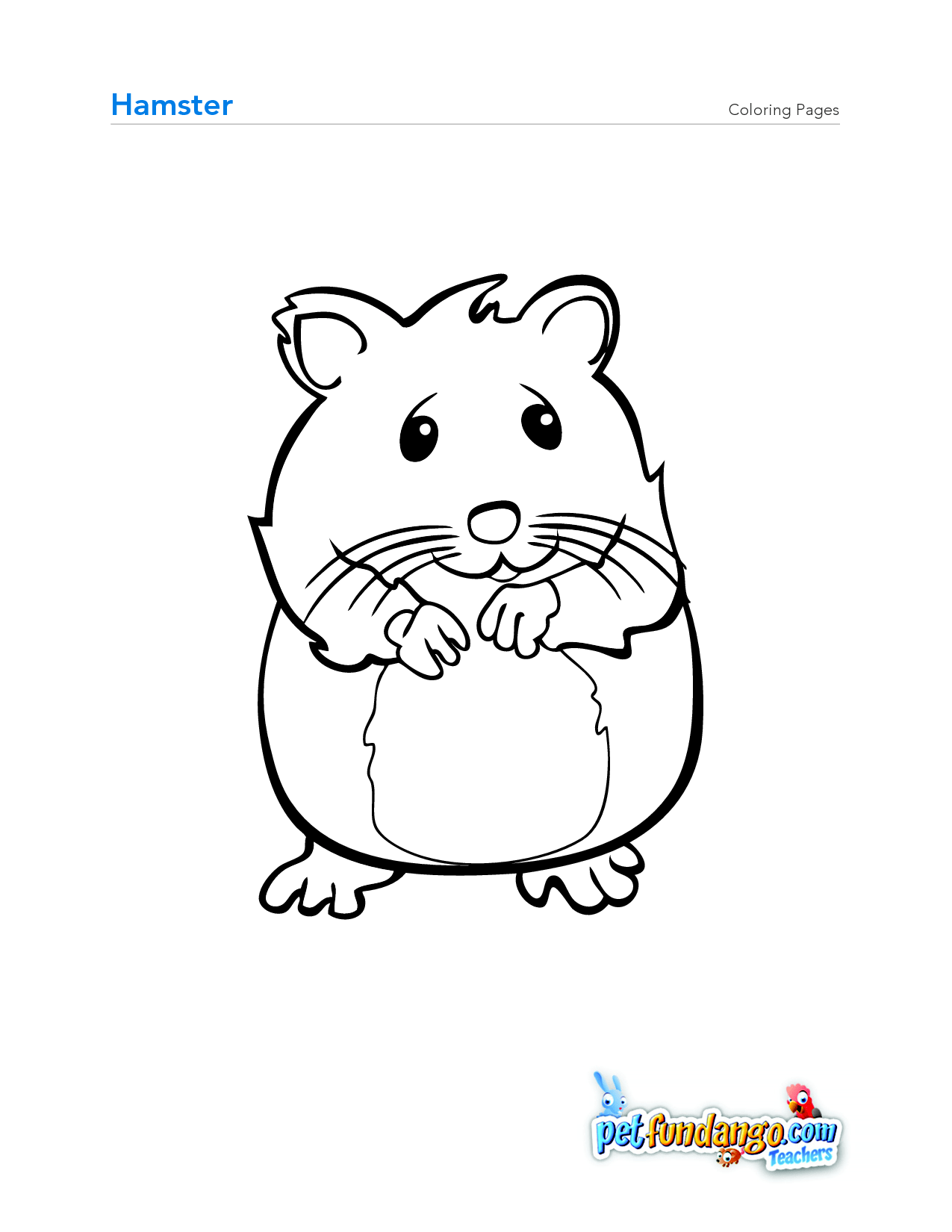 Cute Hamster Drawing At Getdrawings