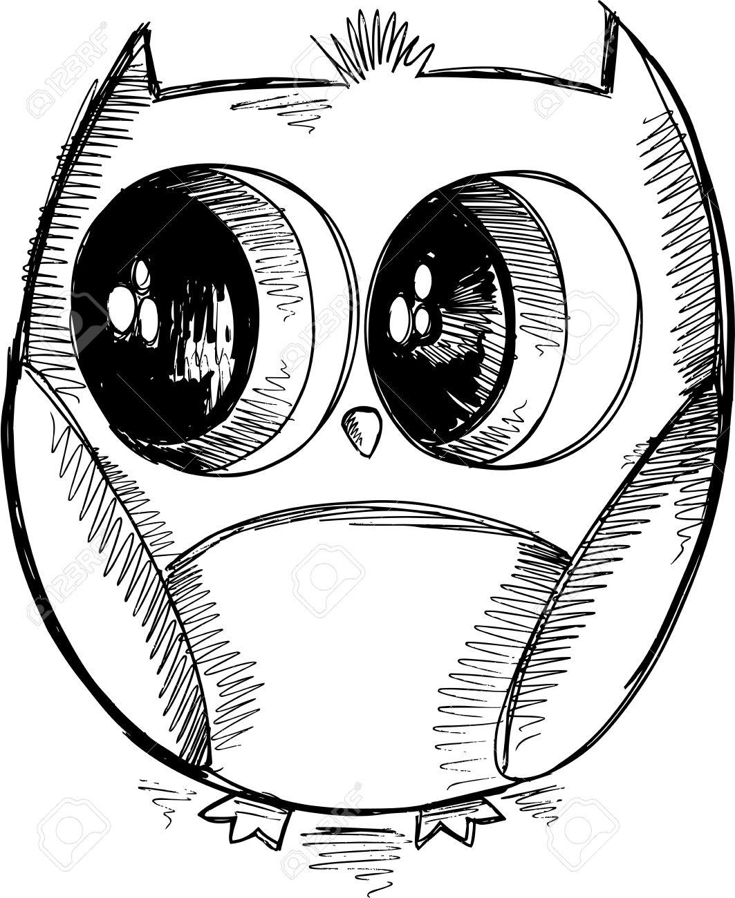 Cute Owl Drawing At Getdrawings