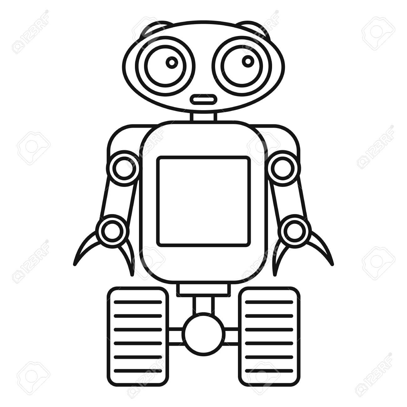 Cute Robot Drawing At Getdrawings