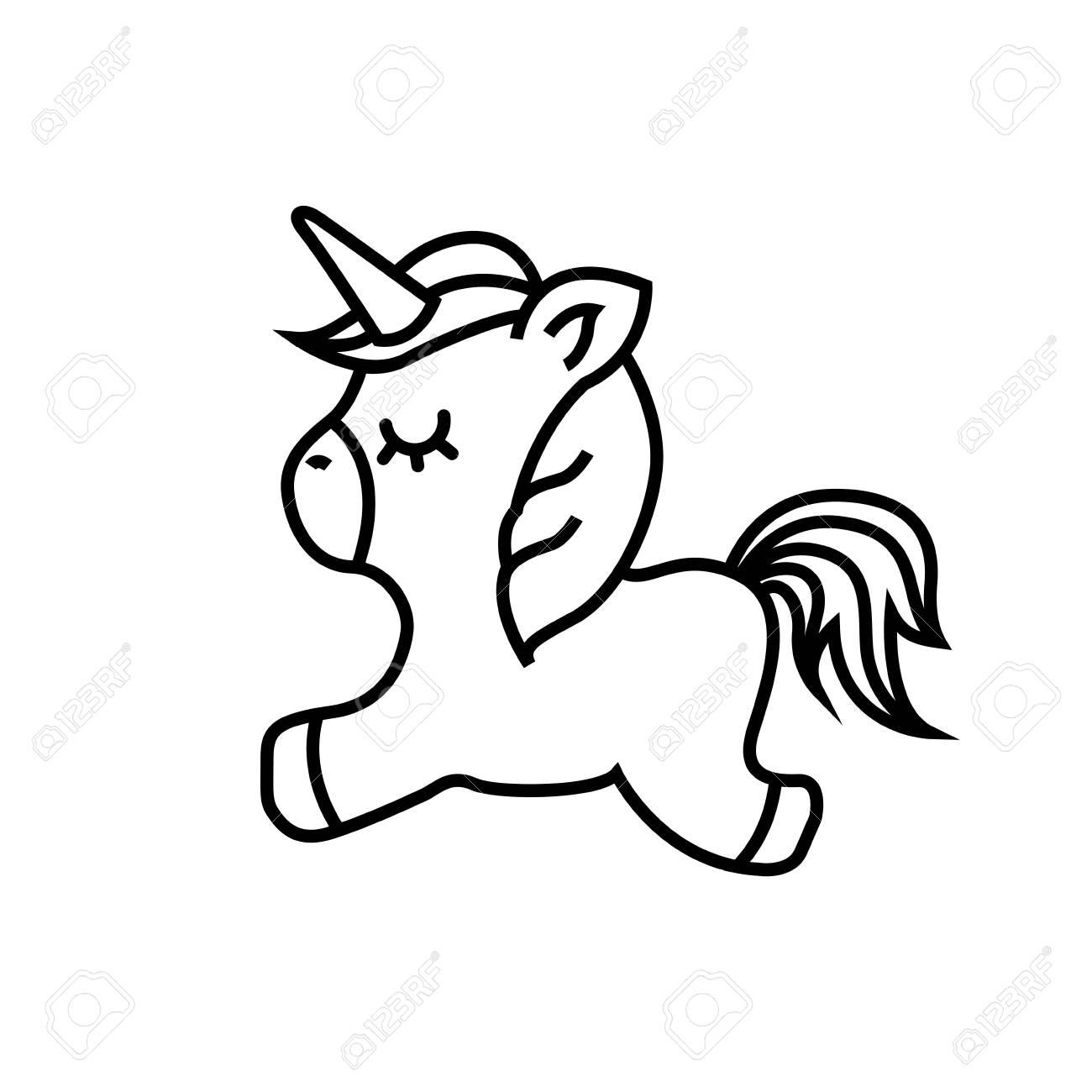 Cute Unicorn Drawing At Getdrawings