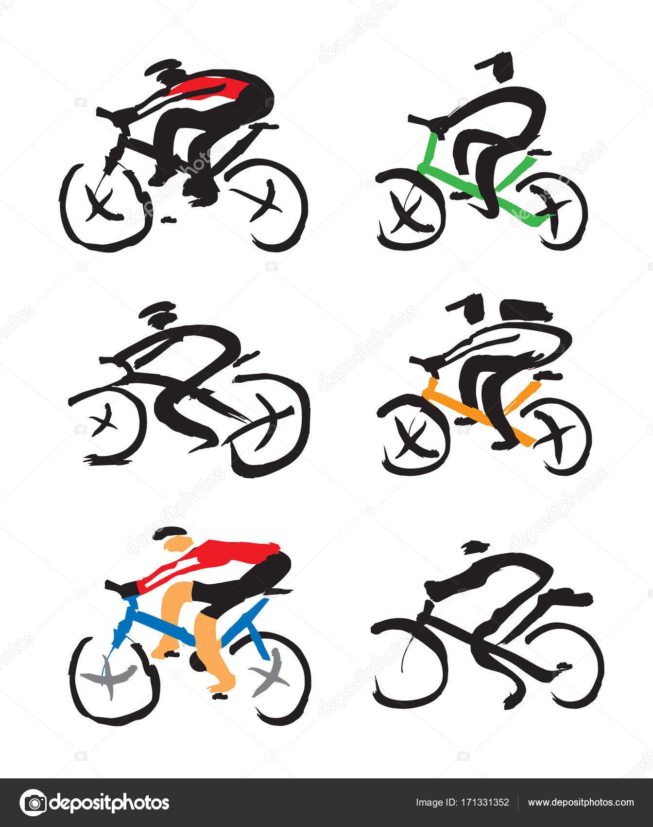 Cyclist Drawing At Getdrawings