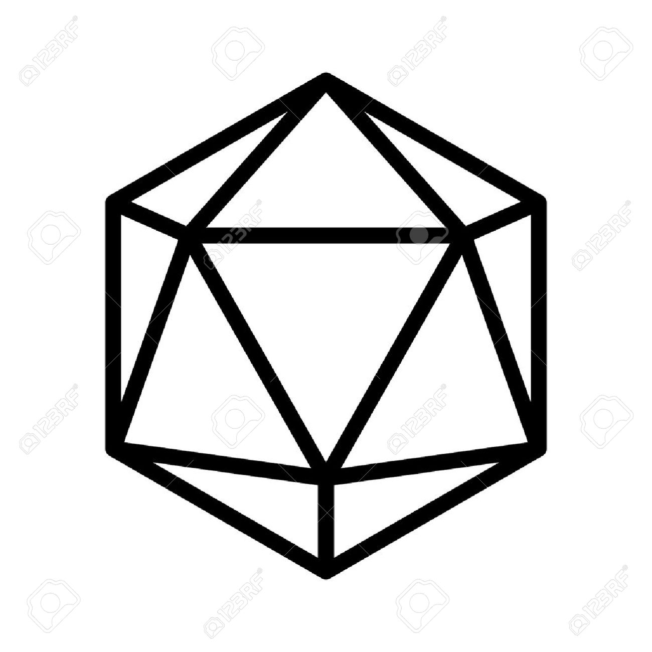 D20 Drawing At Getdrawings