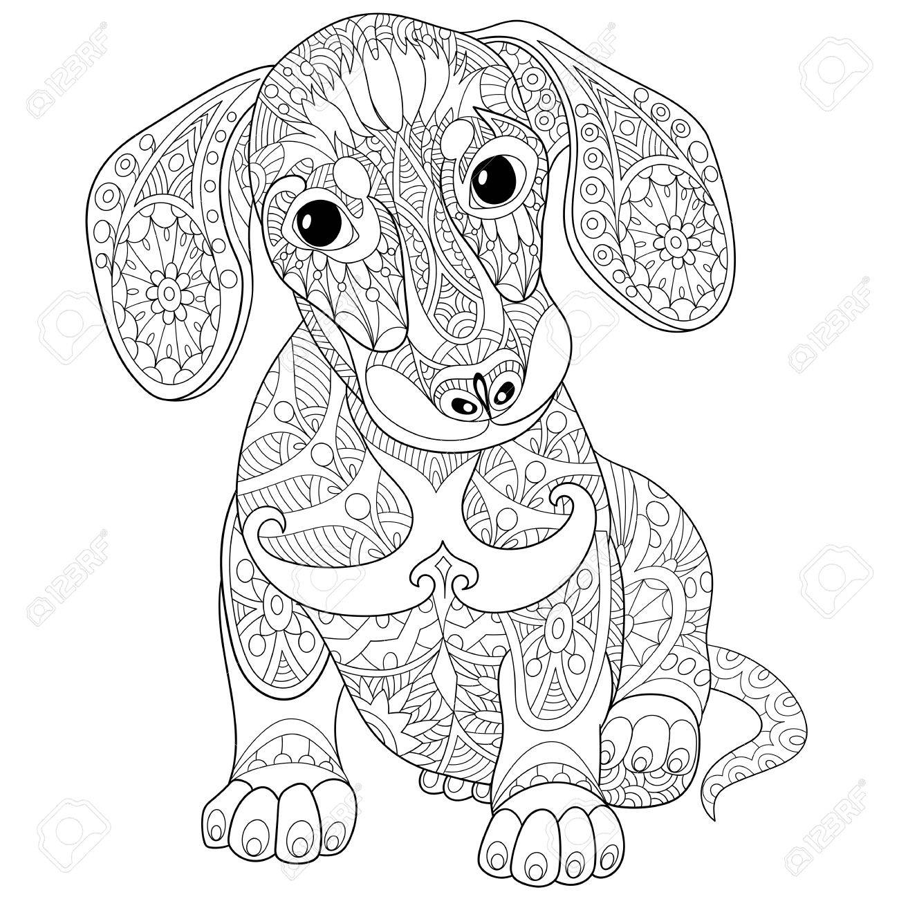 Dachshund Line Drawing At Getdrawings