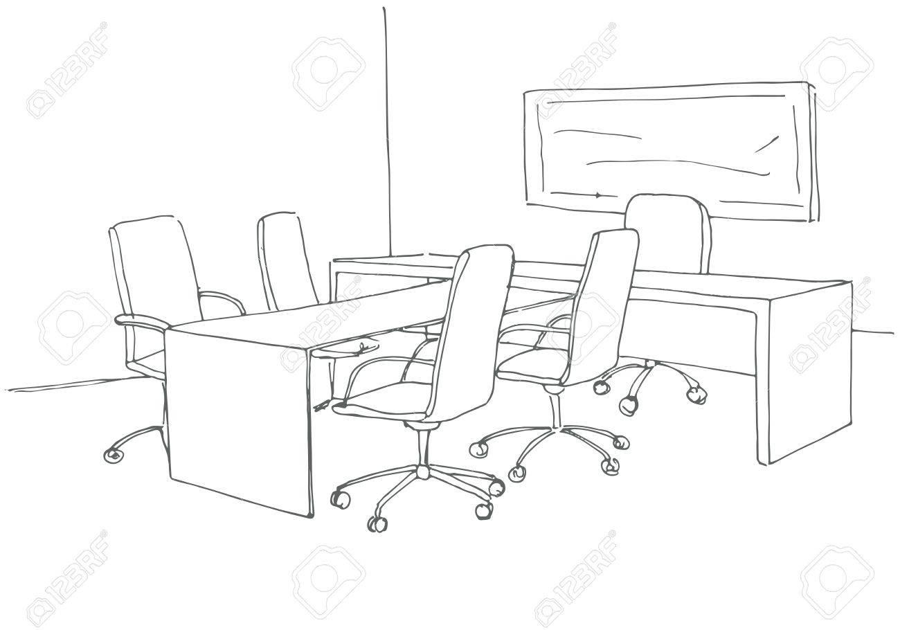 Desk Drawing At Getdrawings