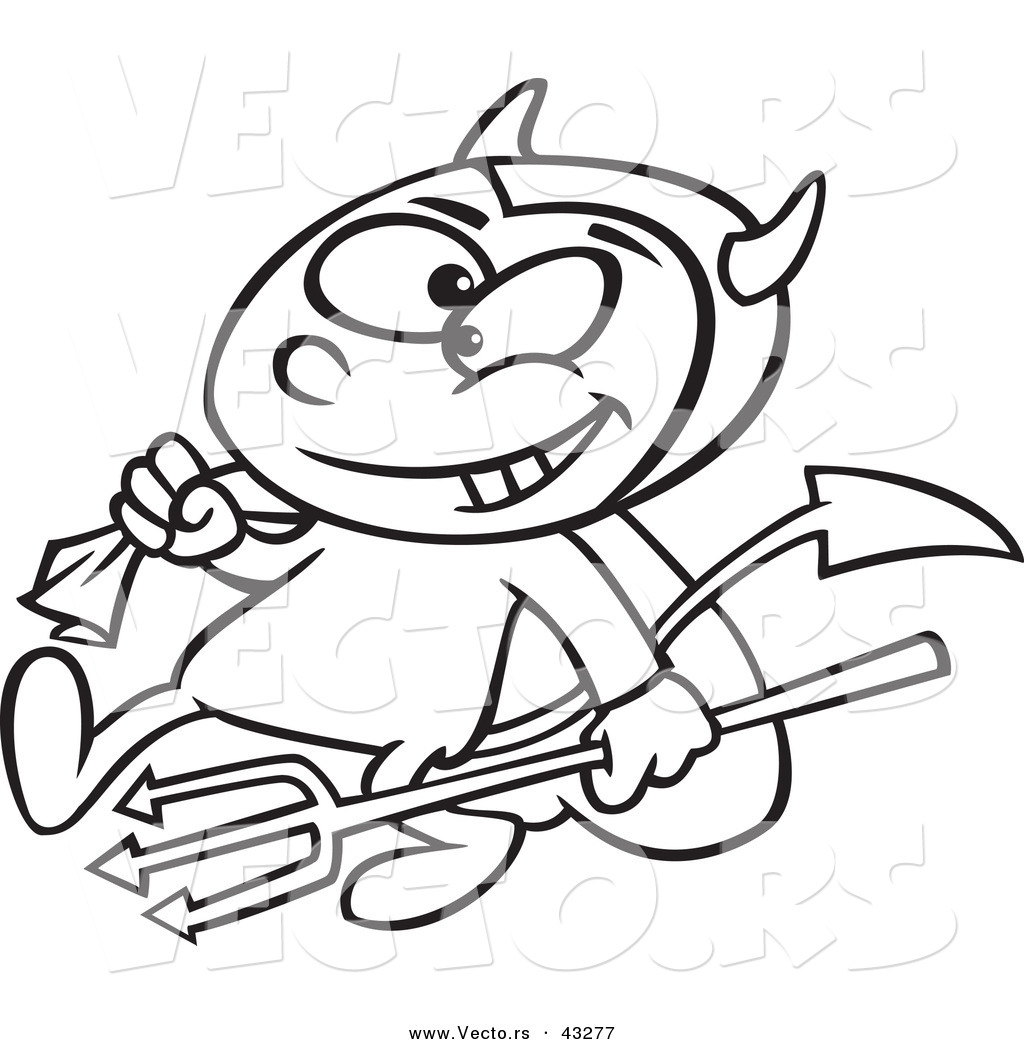 Devil Cartoon Drawing At Getdrawings