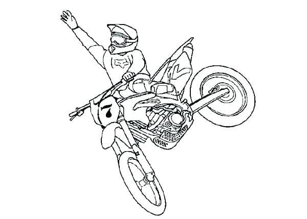 dirt bike coloring page # 45