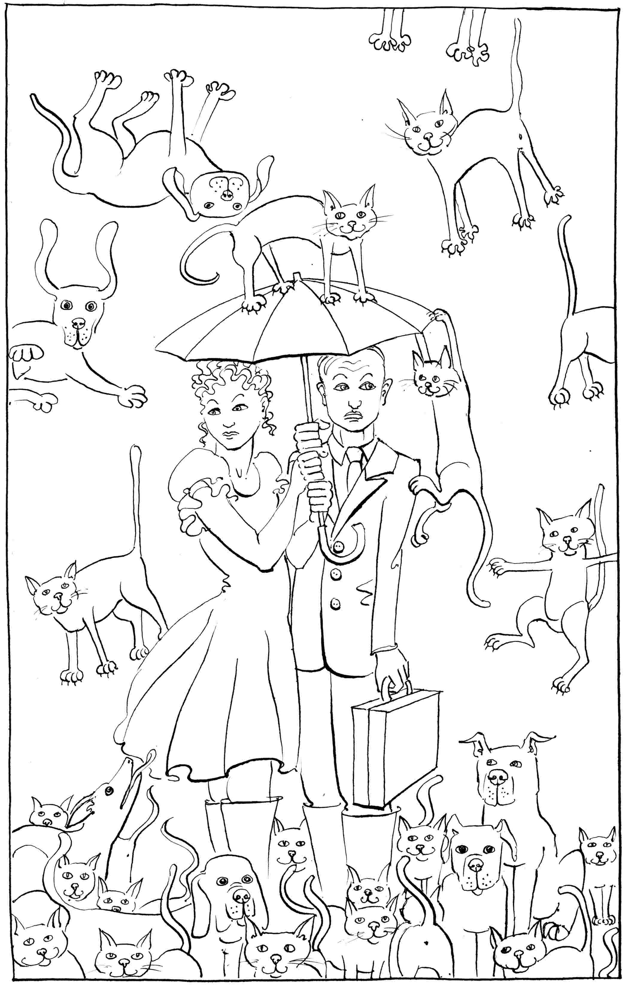 Dogs And Cats Drawing At Getdrawings