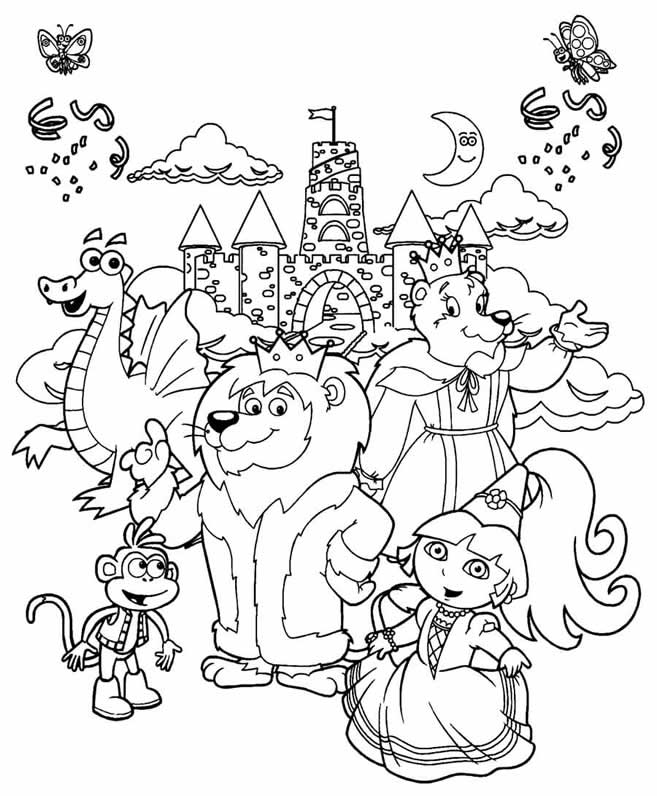 dora and friends drawing at getdrawings  free download