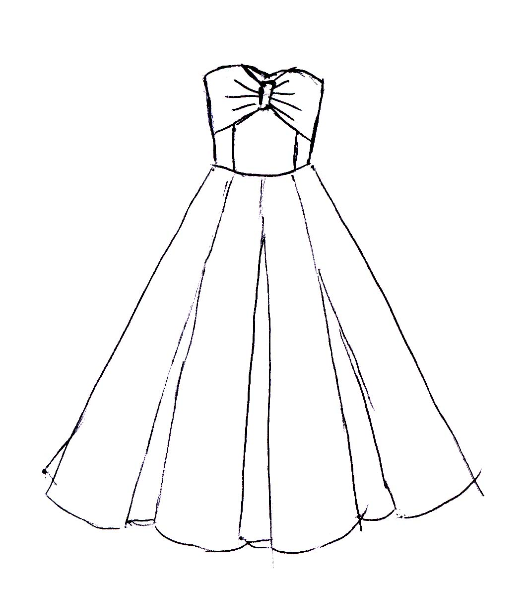 Girl Dress Drawing For Kids Novocom Top