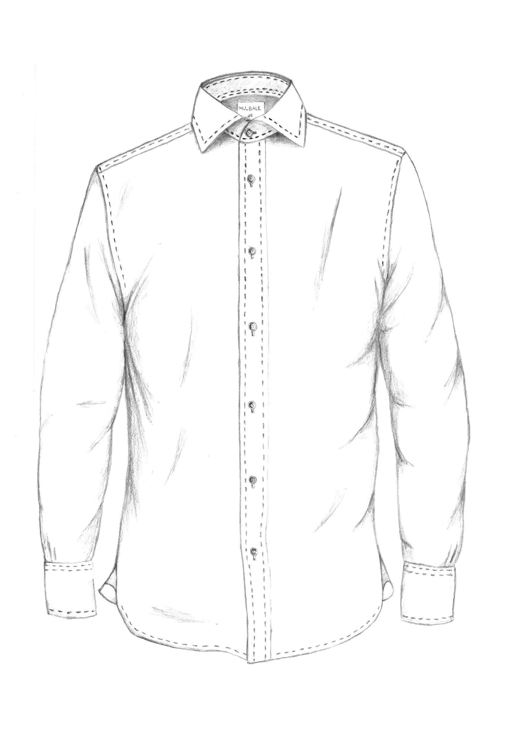 Dress Shirt Drawing At Getdrawings