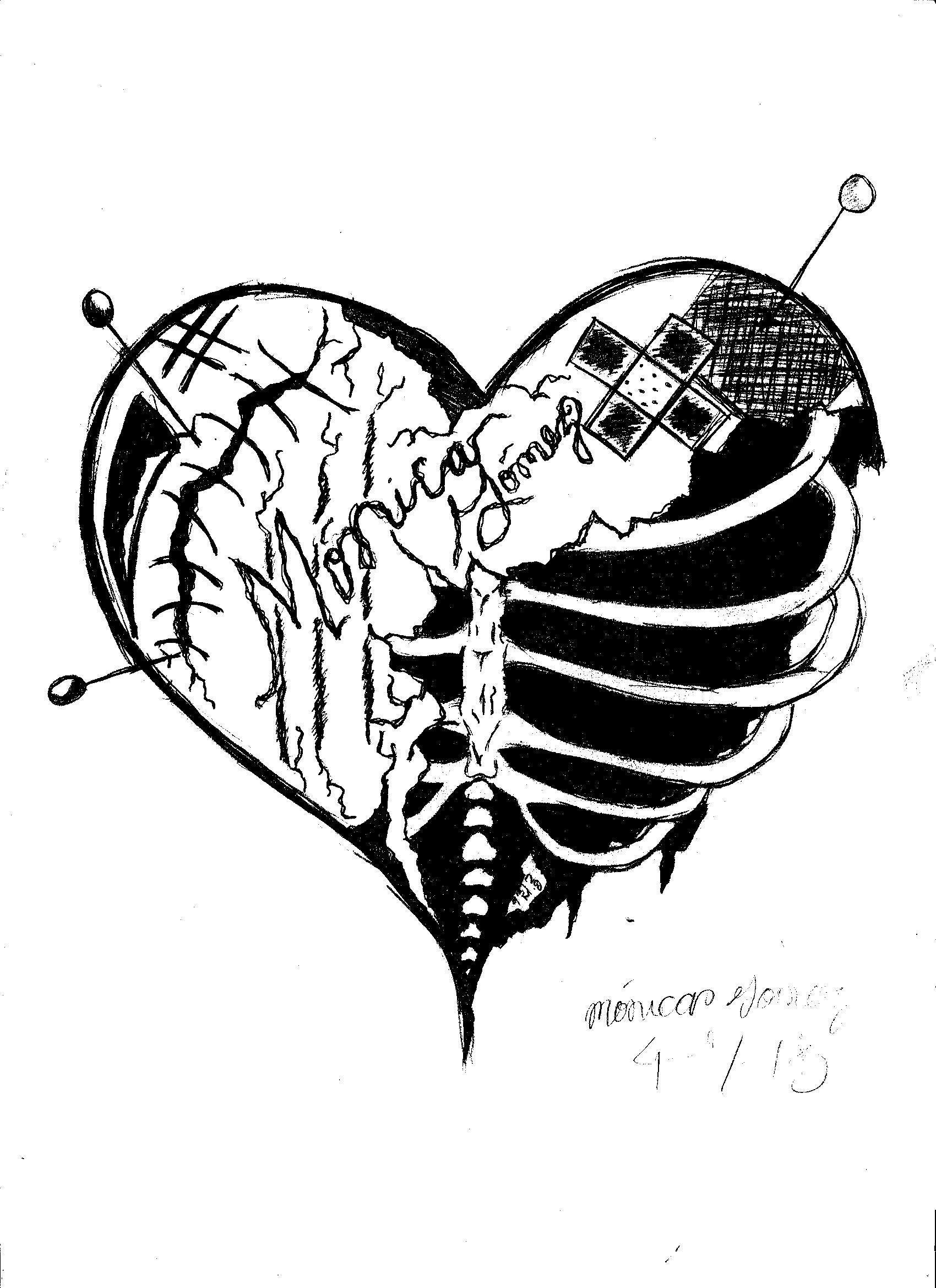 Dripping Heart Drawing At Getdrawings