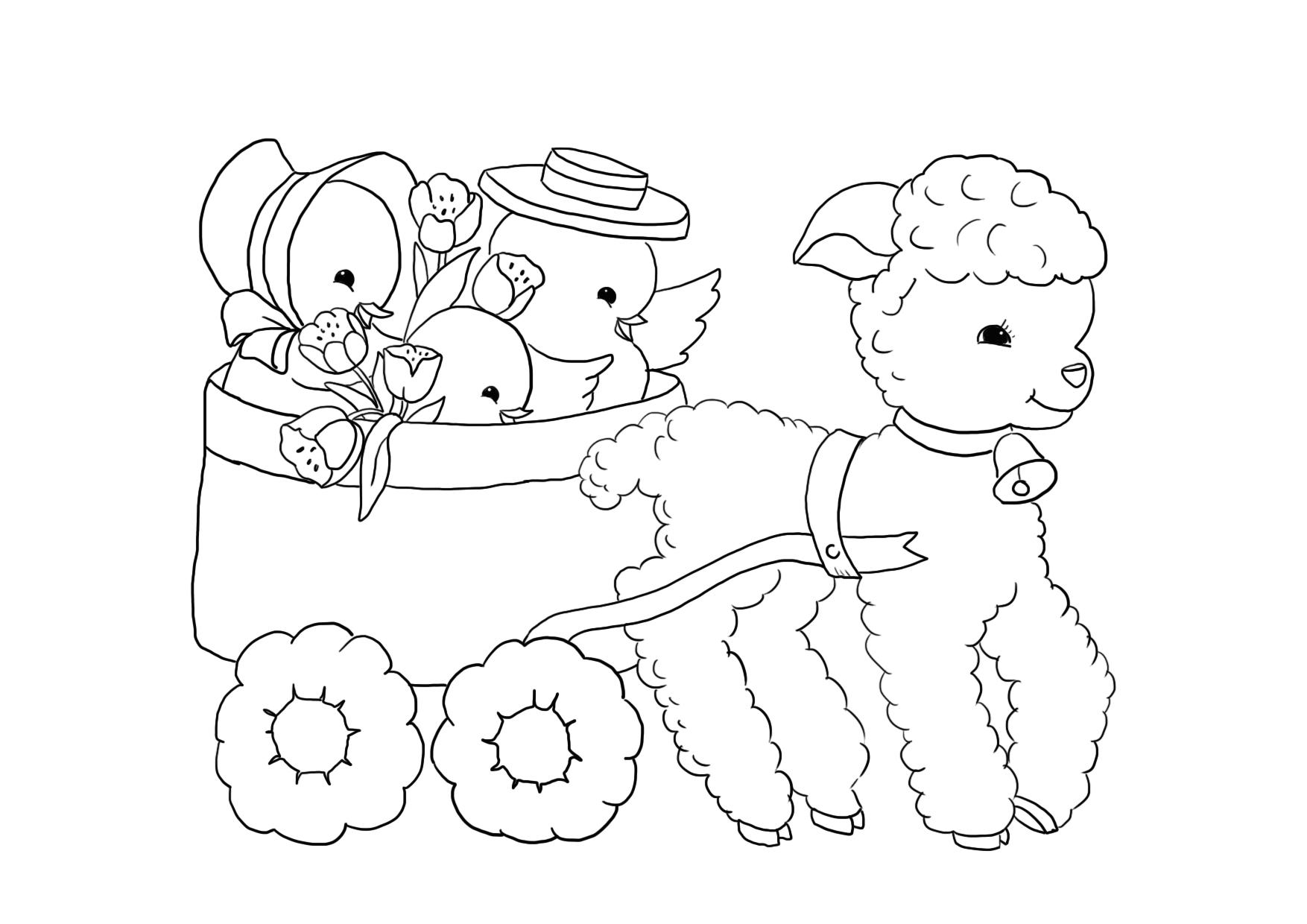 lamb coloring page free coloring pages download xsibe sheep