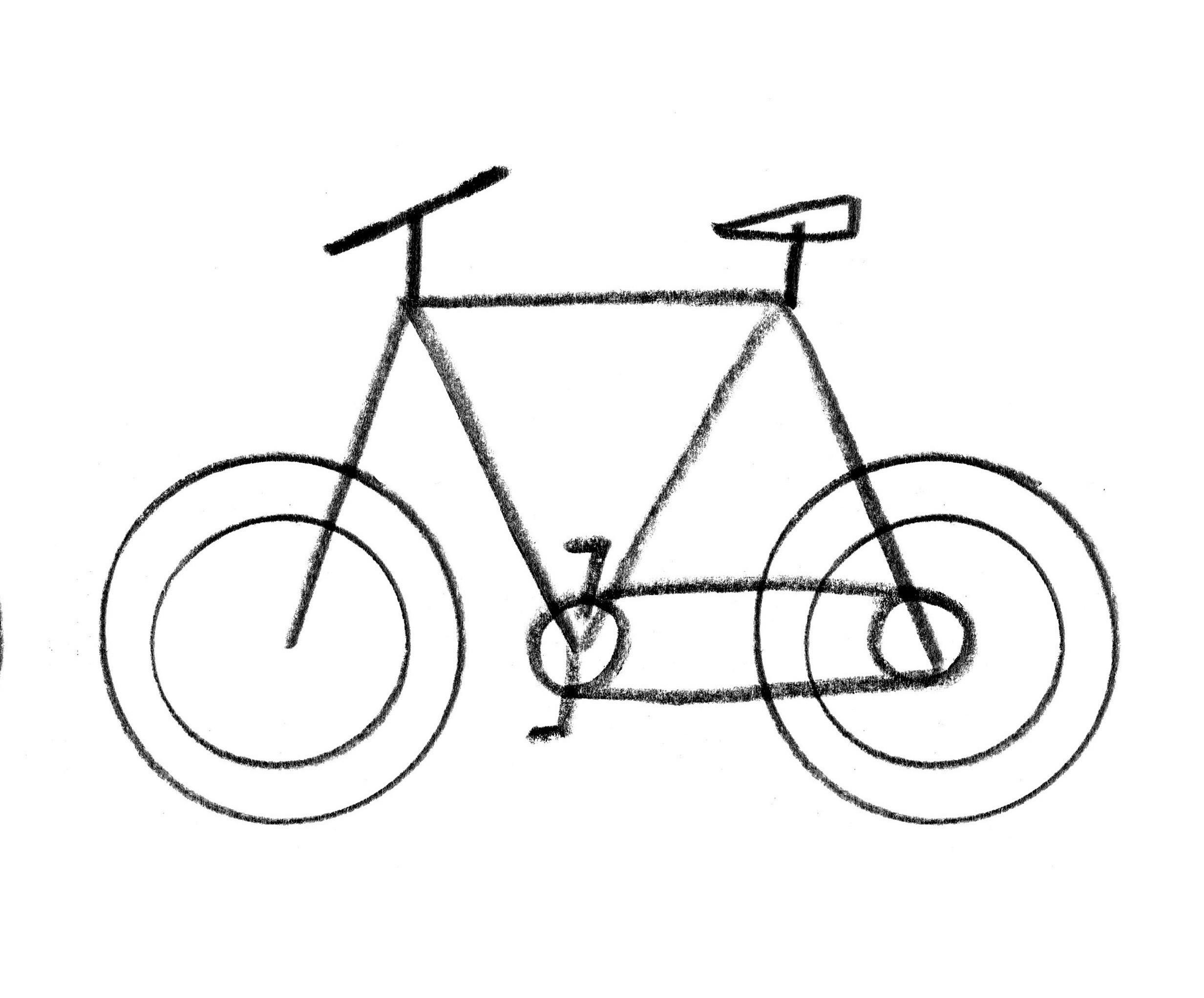 Easy Bike Drawing At Getdrawings