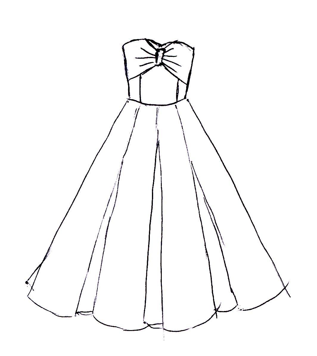 Easy Dress Drawing At Getdrawings