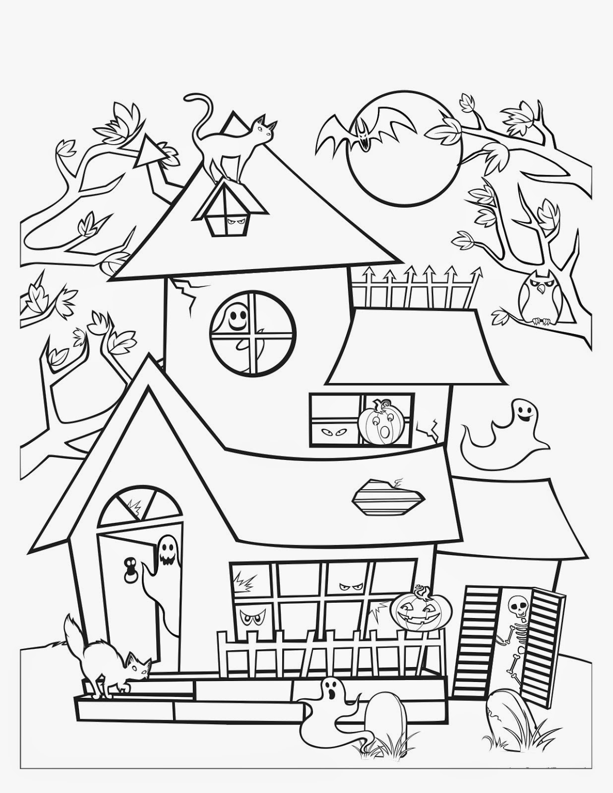 Easy Haunted House Drawing At Getdrawings