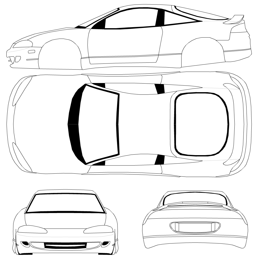 Supercars Gallery Mitsubishi Eclipse Drawing