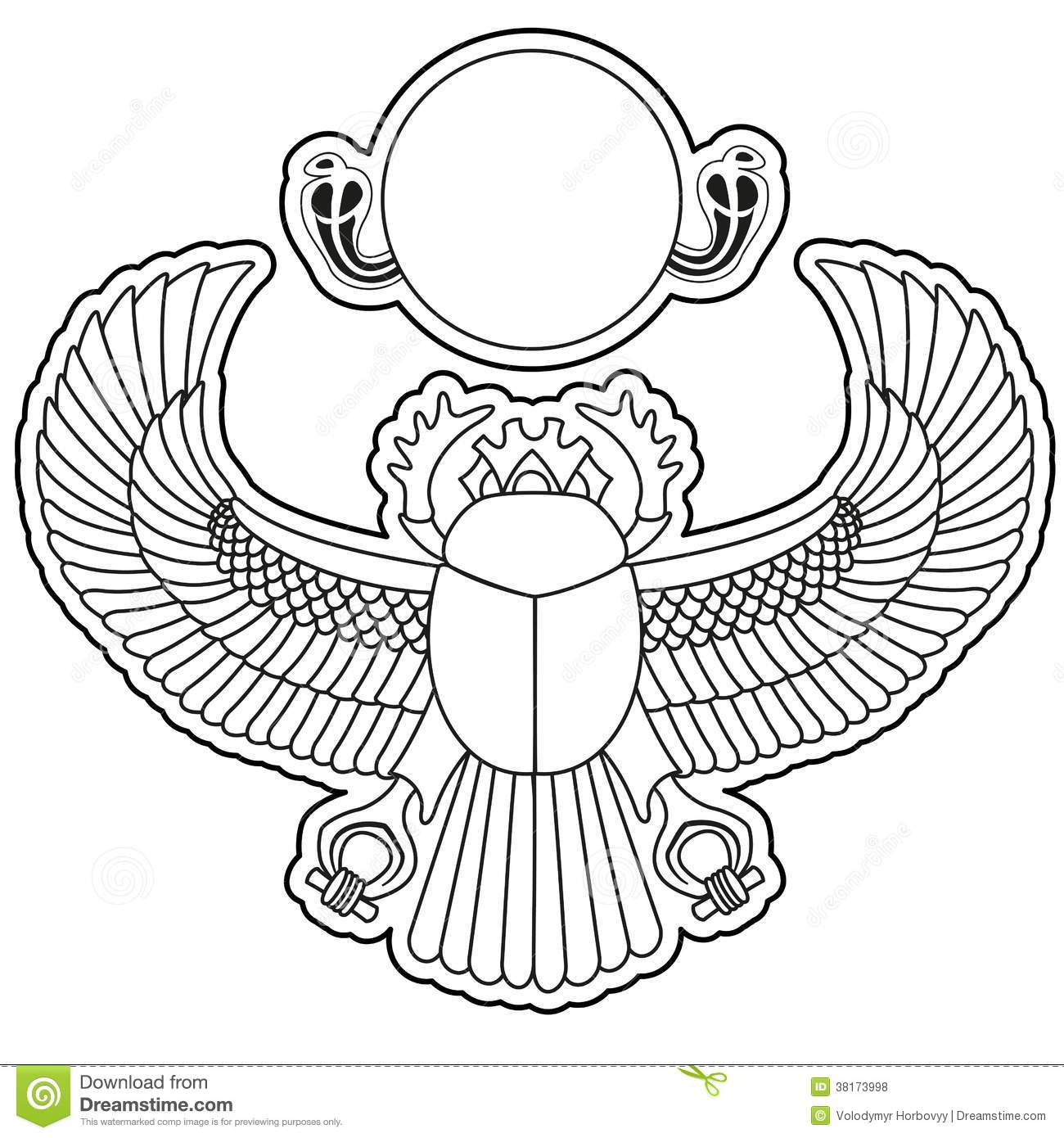 Egyptian Scarab Beetle Drawing At Getdrawings