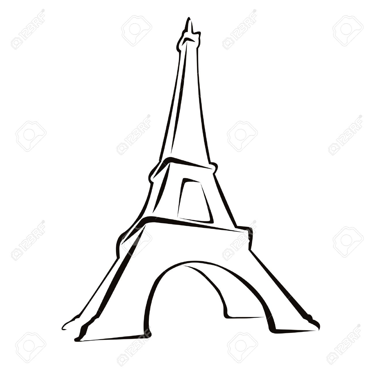 Eiffel Tower Drawing Black And White At Getdrawings