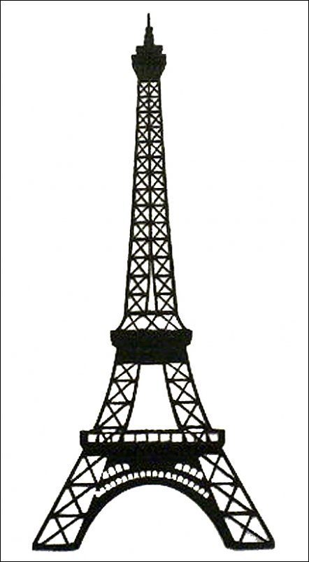 Black And White Eiffel Tower Sketch