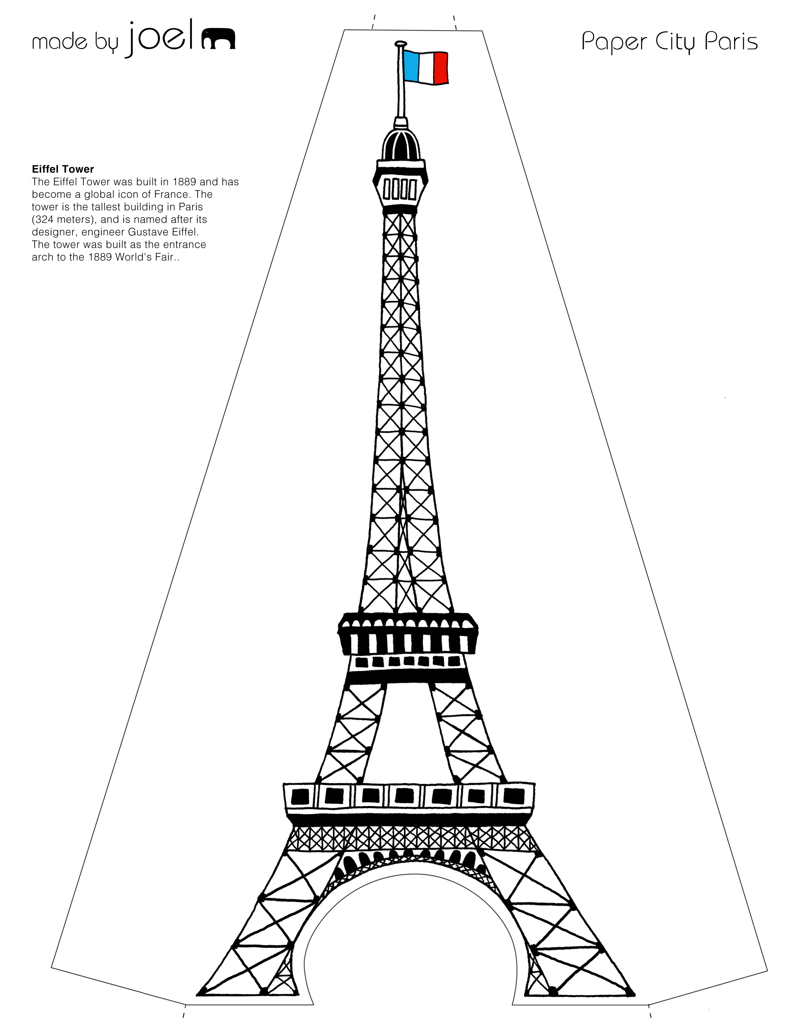 Eiffel Tower Drawing Outline At Getdrawings
