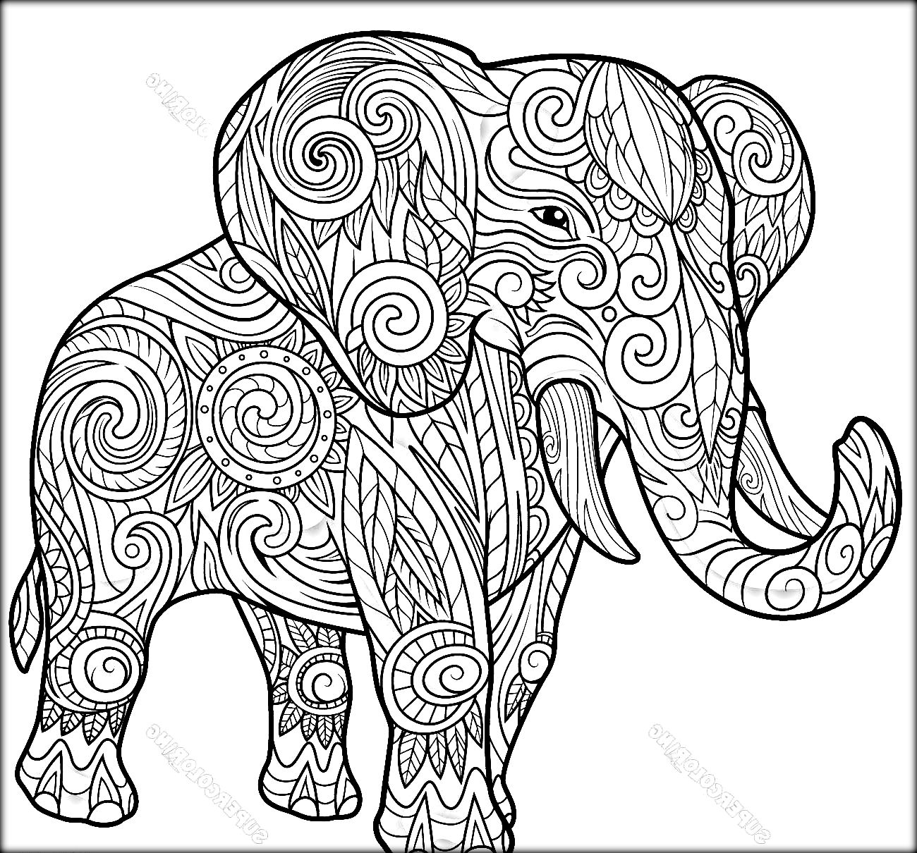 Elephant Design Drawing At Getdrawings