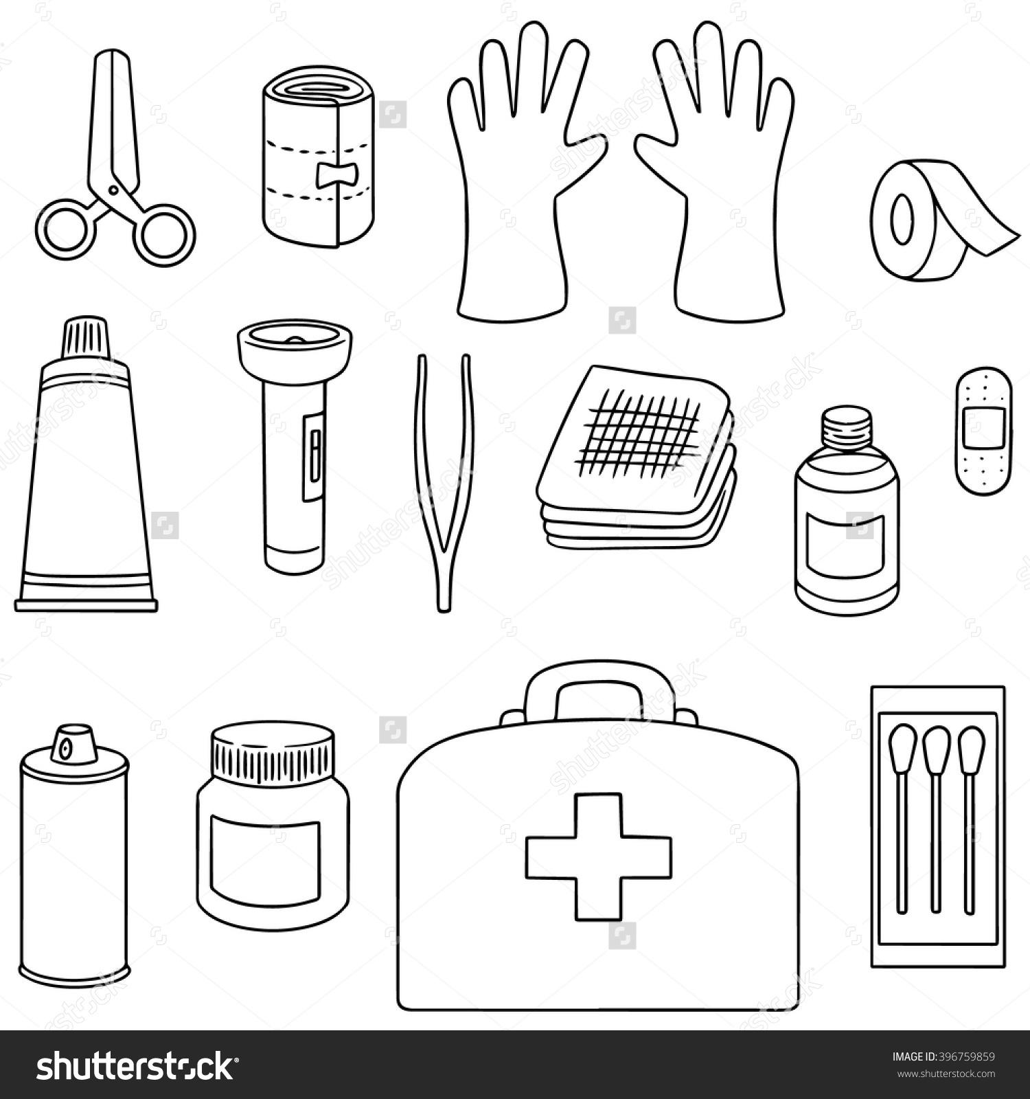 Emergency Kit Drawing At Getdrawings