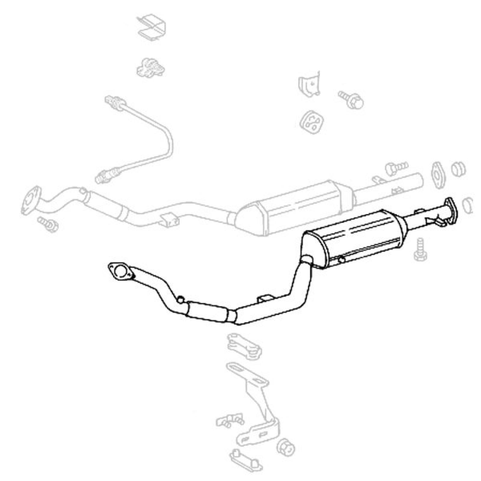 1600x1600 mercedes benz r129 500sl sl 600 left exhaust system catalytic