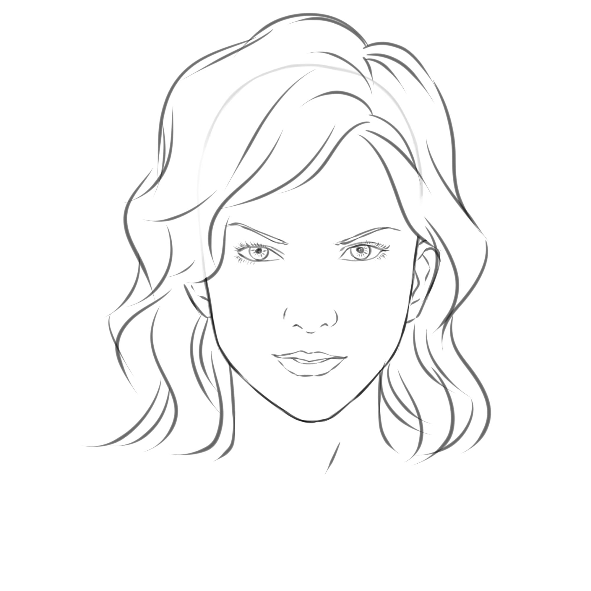Face Template For Drawing At Getdrawings