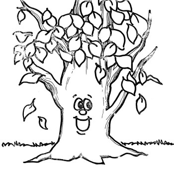 fall tree coloring page # 70