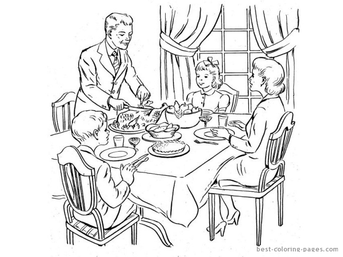 Family Dinner Drawing At Getdrawings Com Free For Personal Use