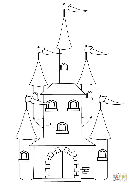 Fantasy Castle Drawing At Getdrawings