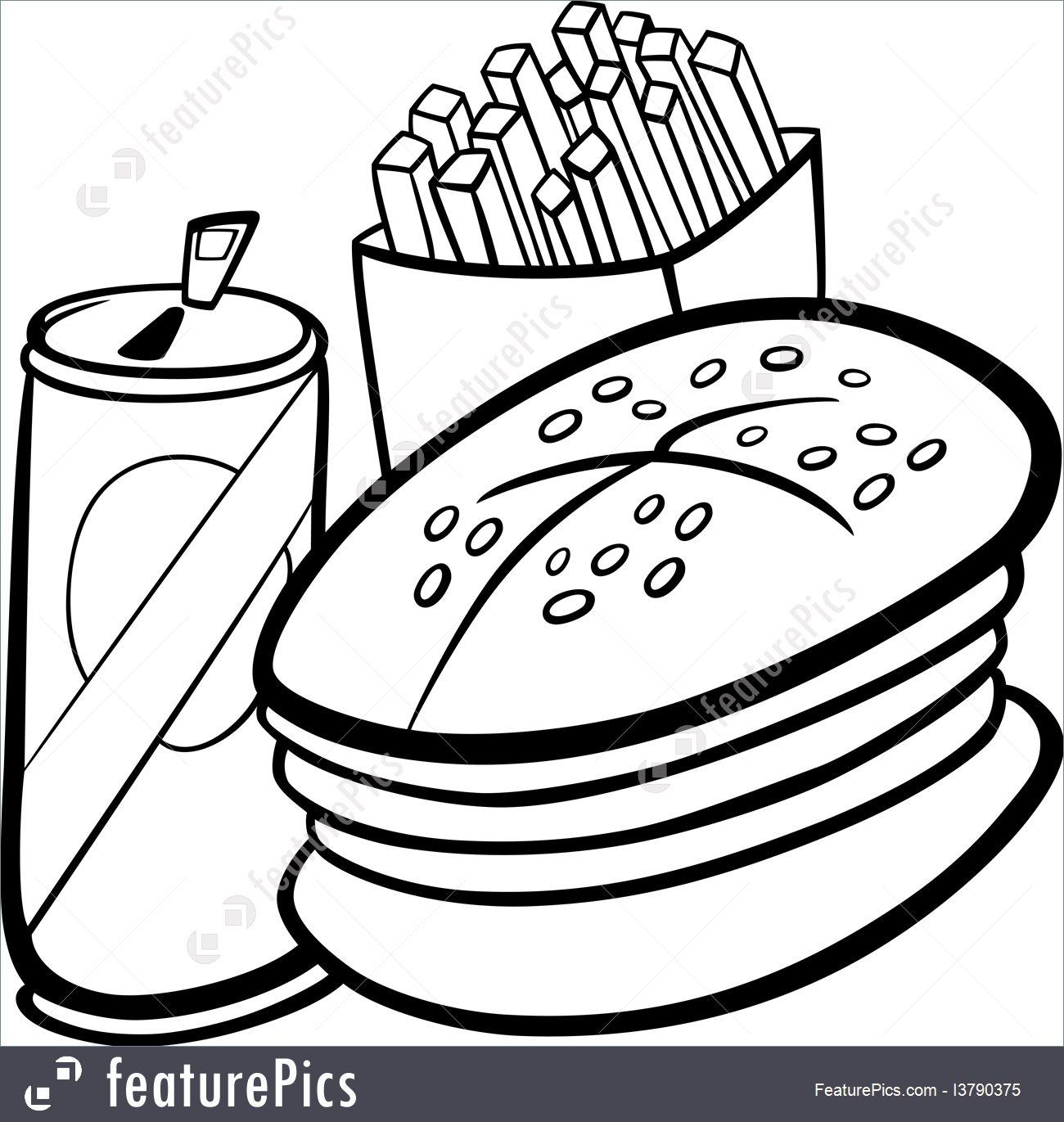 Fast Food Drawing At Getdrawings