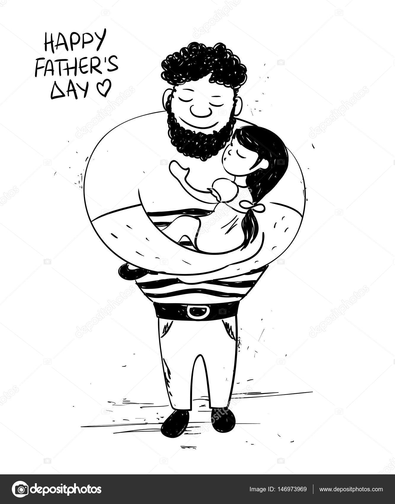 Father And Daughter Drawing At Getdrawings