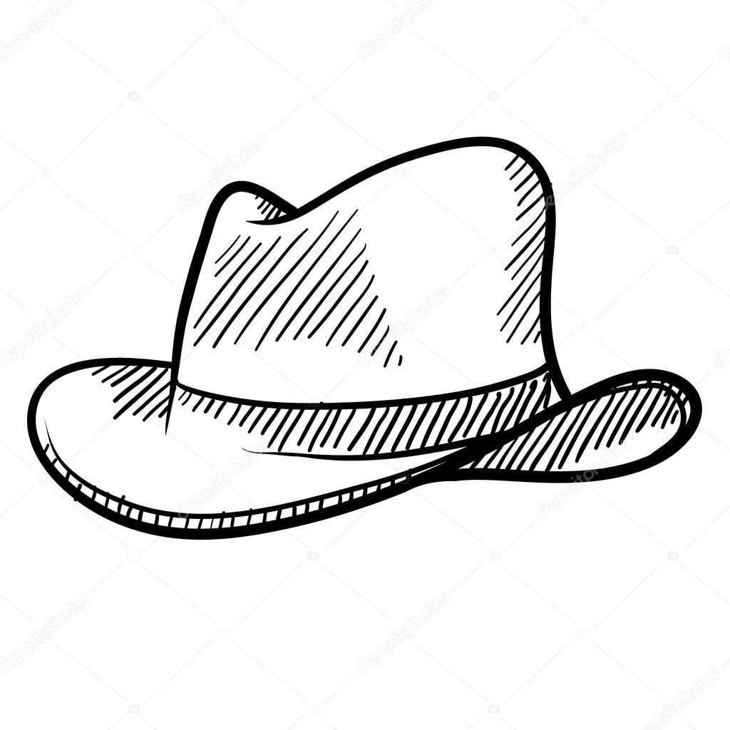 Fedora Hat Drawing At Getdrawings