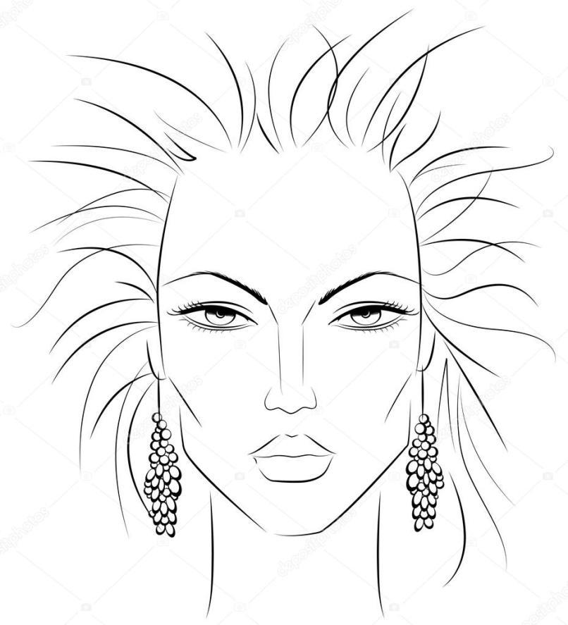 Blank Face Template For Makeup Artist Pdf Kakaozzankco