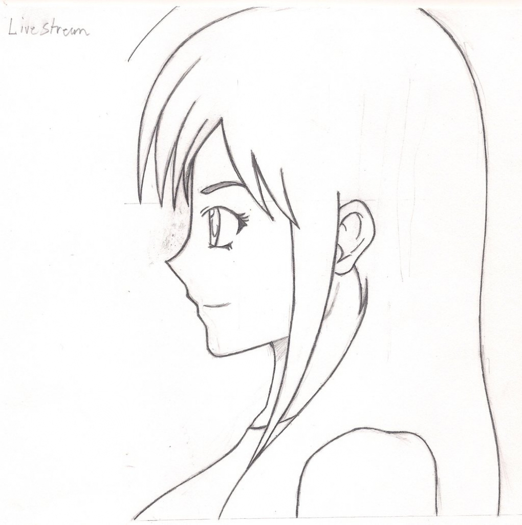 face drawing cartoon female profile pictures www