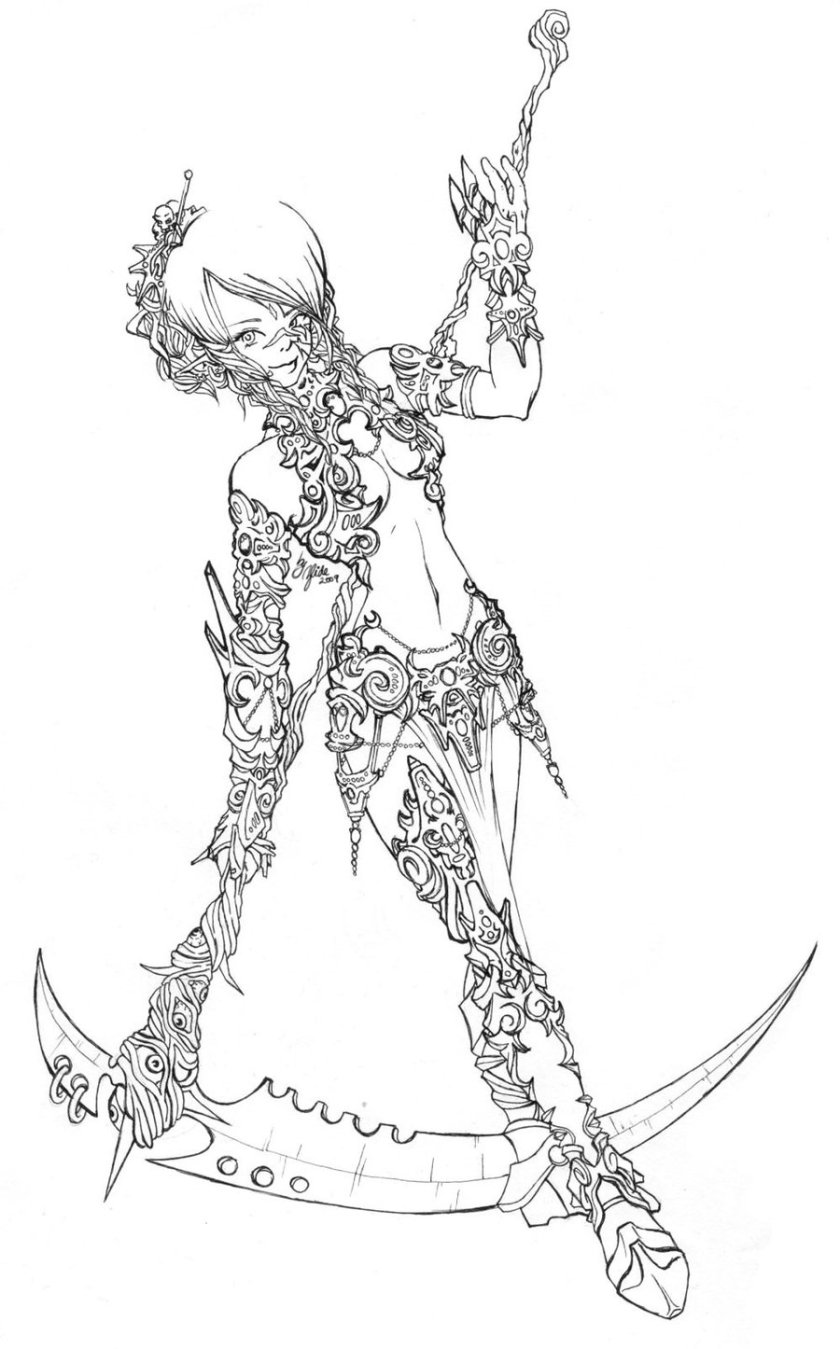 female warrior drawing at getdrawings  free download