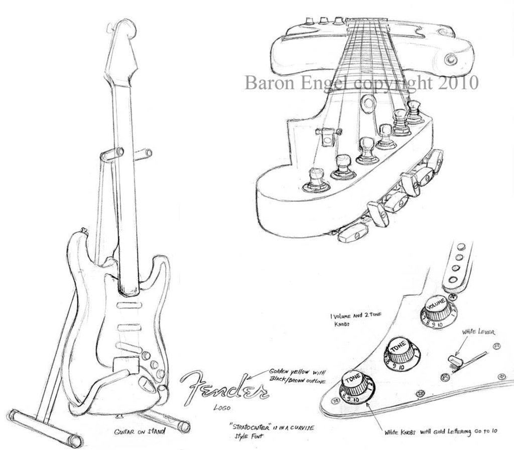 The Best Free Fender Drawing Images Download From 50 Free Drawings Of Fender At Getdrawings
