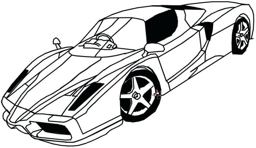 ferrari car drawing at getdrawings  free download